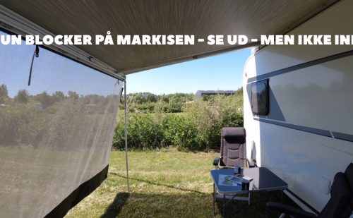 Sun blocker på markisen – skygge og frisk luft under markisen