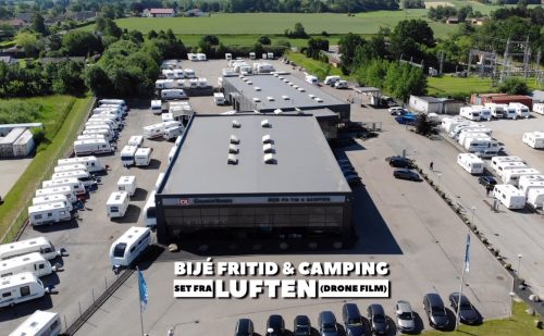 Bijè Fritid & Camping set fra luften