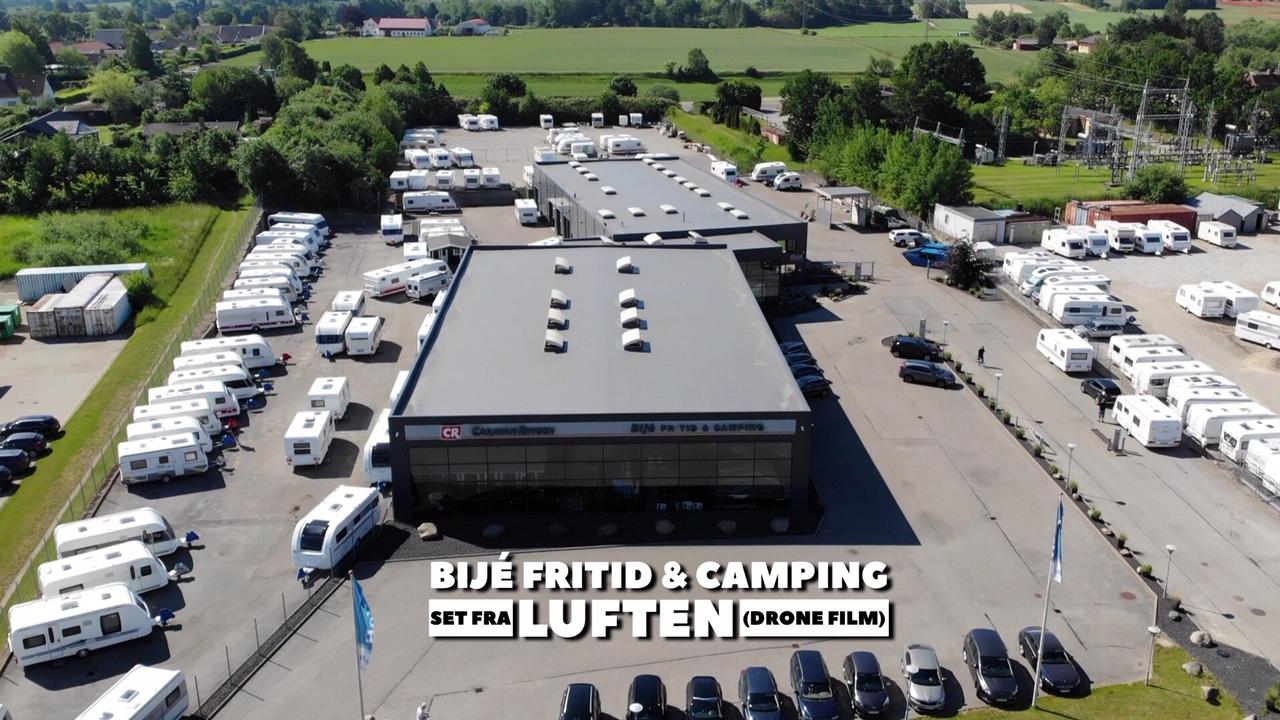 Bijè Fritid & Camping set fra luften (Reklame)