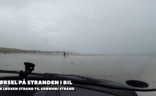 Køretur på stranden langs Vesterhavet