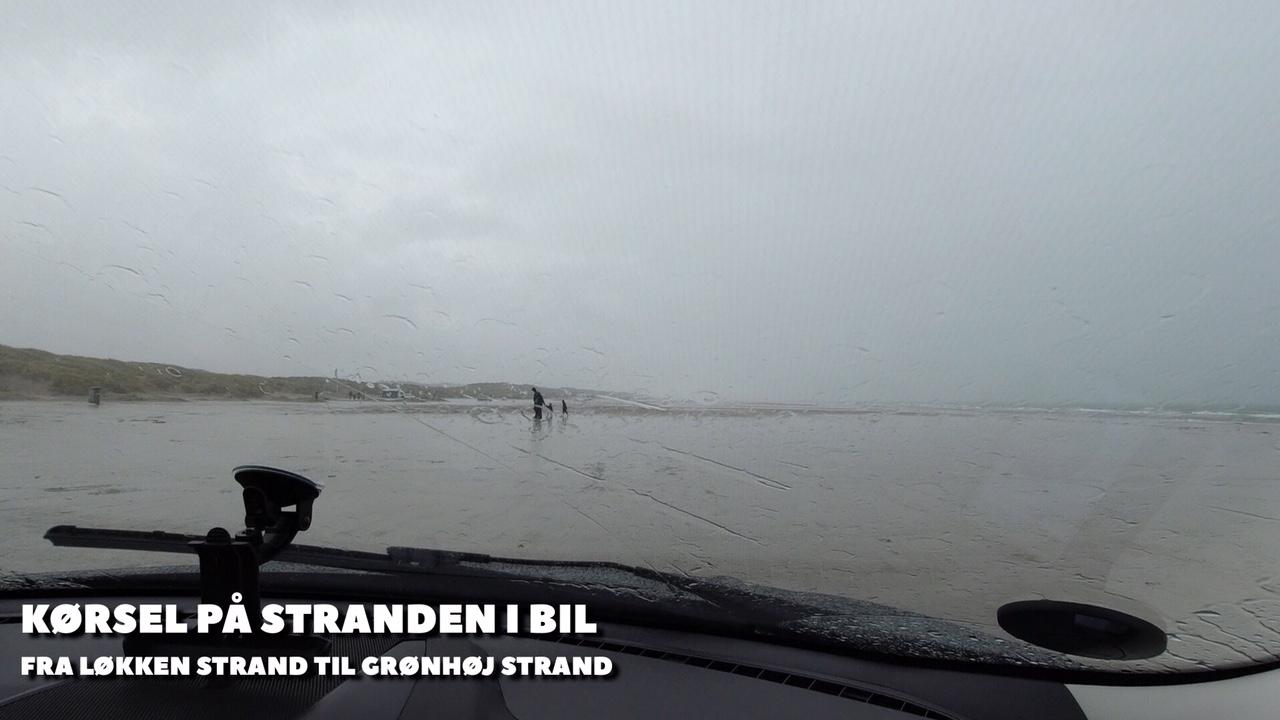 Køretur på stranden langs Vesterhavet + film