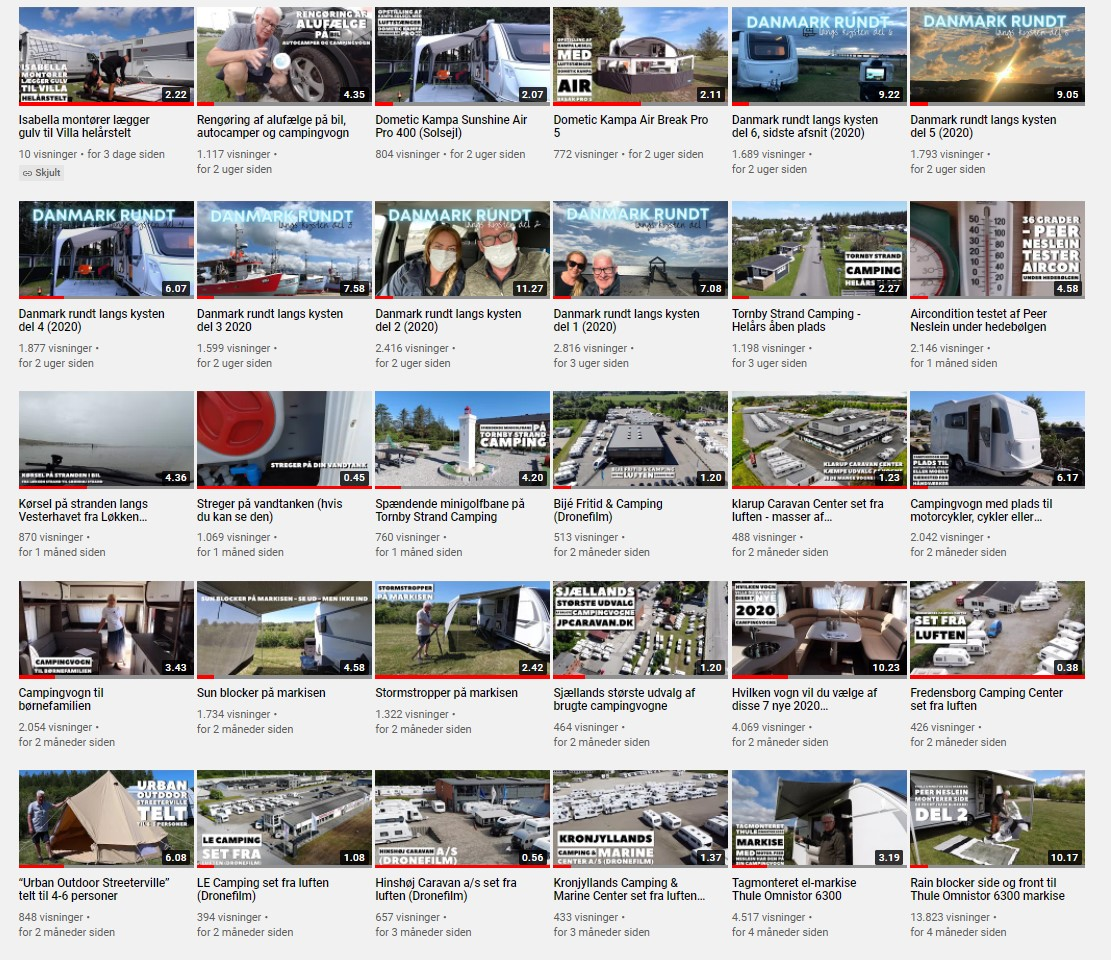 152 nye film fra Campingferie.dk det sidste år - vælg mellem 1.000 film