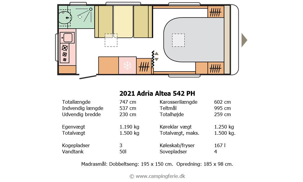 2021 Adria Altea 542 PH – Lige til højrebenet (reklame)