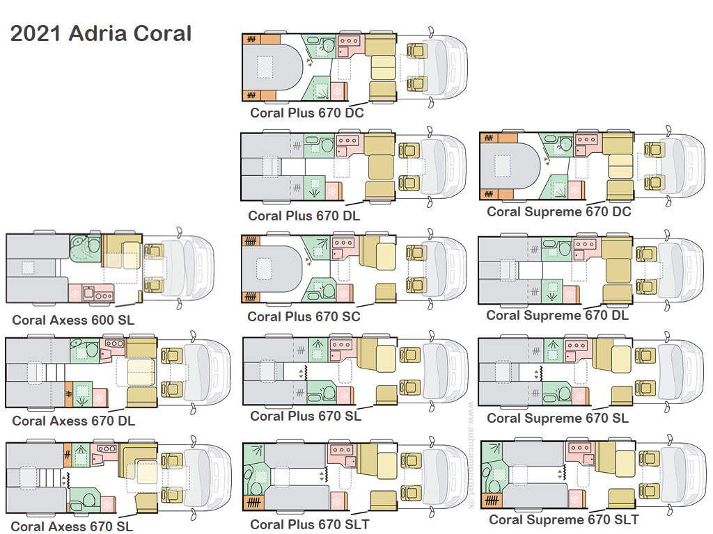 2021 layouts of Adria Coral