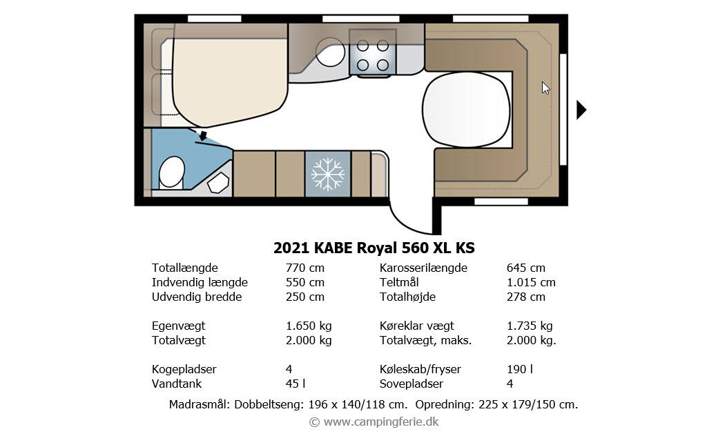 2021 KABE Royal 560 XL KS