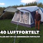 Outdoor Revolution model Elan 340 lufttelt med solsejl – Film – (reklame)