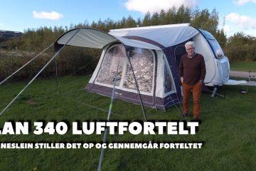 Outdoor Revolution model Elan 340 lufttelt med solsejl – Film – (reklame)
