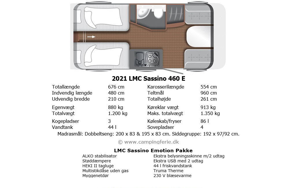 2021 LMC Sassino 460 E