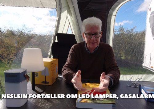 Led lamper, gasalarm, vandtæt bluetooth højttaler og gratis 1.000 siders katalog fra JPCaravanshop.dk