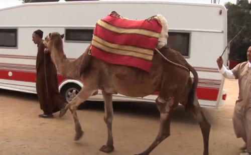 Med campingvogn til Afrika + film (Reklame)