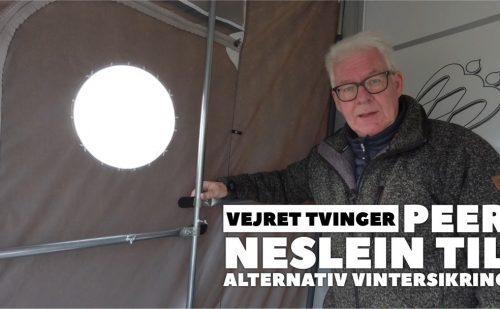 Vejret tvinger Peer Neslein til alternativ brug af vintersikring (Reklame)