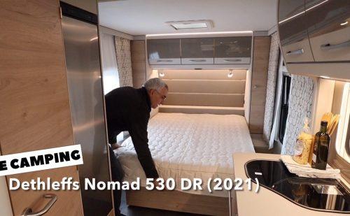 Dethleffs Nomad 530 DR – Søren fra LE Camping fremviser vognen
