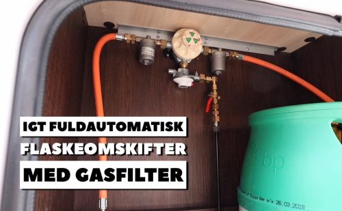 Automatisk gasflaske omkobler – så løber du ikke tom for gas om natten