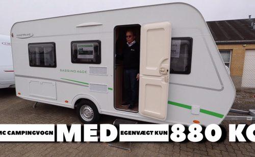 Let campingvogn til el-biler og mindre biler