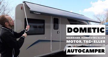 Markiser til campingvogne og autocampere fra Dometic
