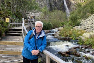 Svensk nationalpark med Sveriges højeste vandfald