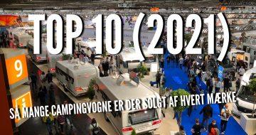 Top 10 - så mange vogne solgte de forskellige mærker